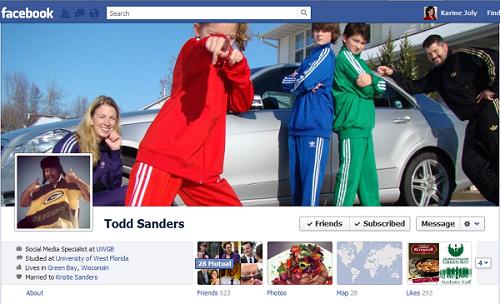 Facebook Timeline Todd Sanders