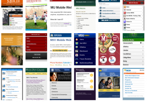 Higher Ed Mobile Websites