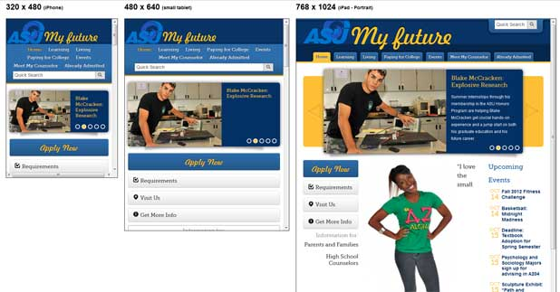 My Future at Angelo State Responsive Website