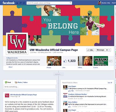 UW - Waukesha Facebook Page