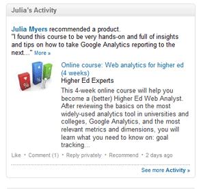 Linkedin Profile Activity