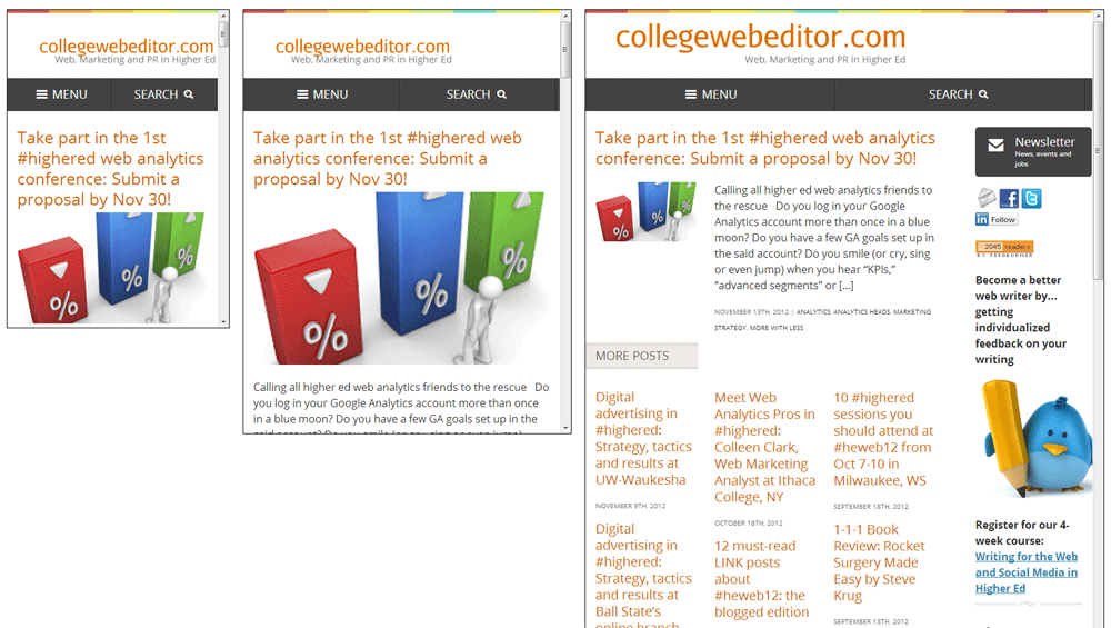 Higher Ed Experts Responsive Website