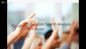 Education Search Analysis by Google