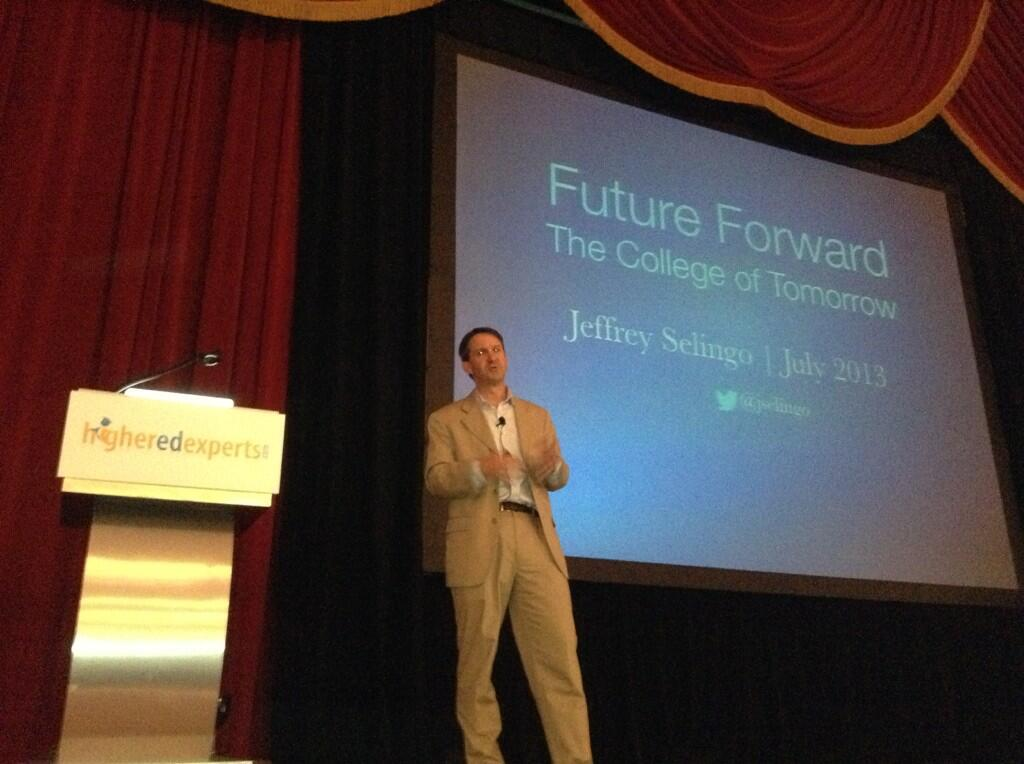 Jeff Selingo at eduWeb 13