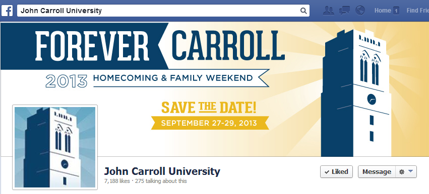 John Carroll University Facebook Cover Image