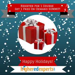 Special Holiday Offer from Higher Ed Experts