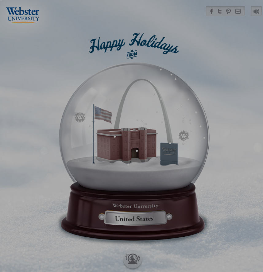 Webster University Snow Globe