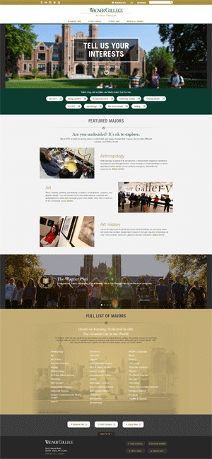 Wagner College Academic Program Pages