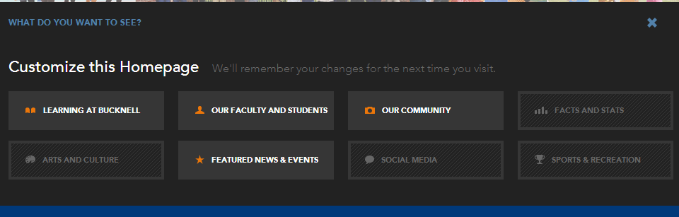 Customize - Bucknell.edu