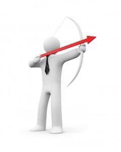 Businessman archer