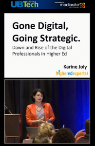 Gone Digital  Going Strategic  Dawn and Rise of the Digital Professionals in Higher Ed