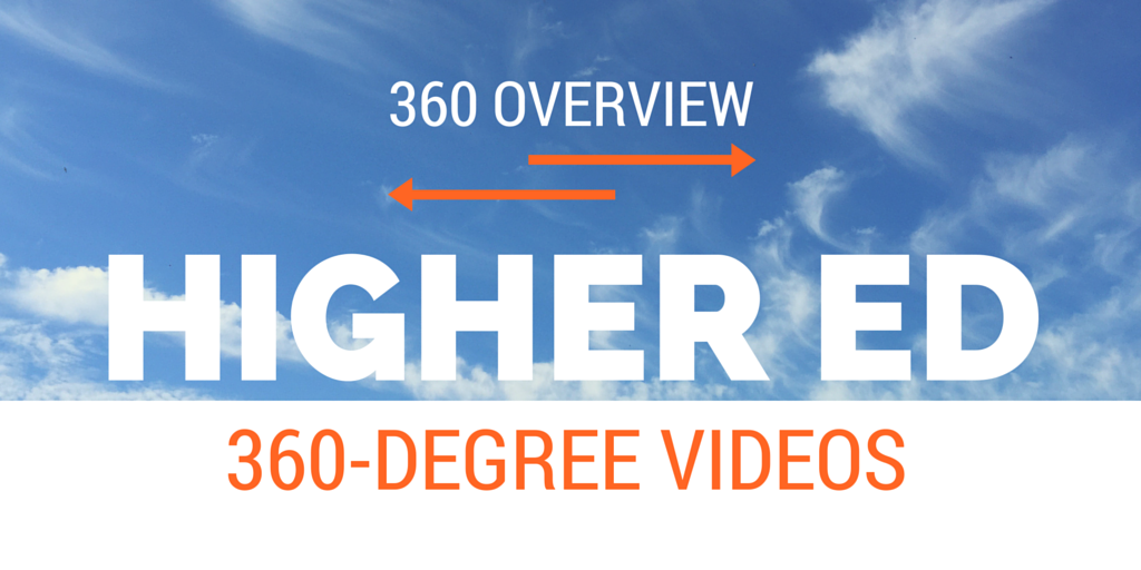 360 Overview of Higher Ed 360 Videos