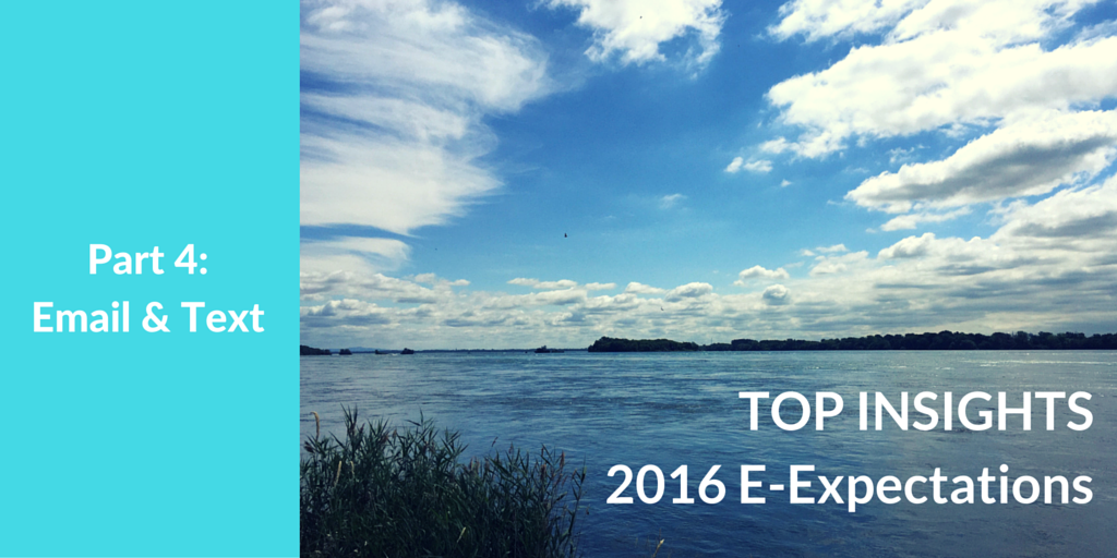Top Insights on Email & Text for #HigherEd from the 2016 Student E-Expectations Survey [Exclusive]