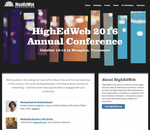 2016 High Ed Web Conference