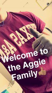 Aggie Snapchat Custom Story