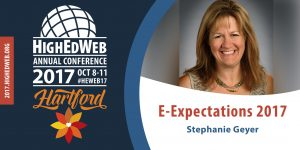 Stephanie Geyer's session on E-Expectations