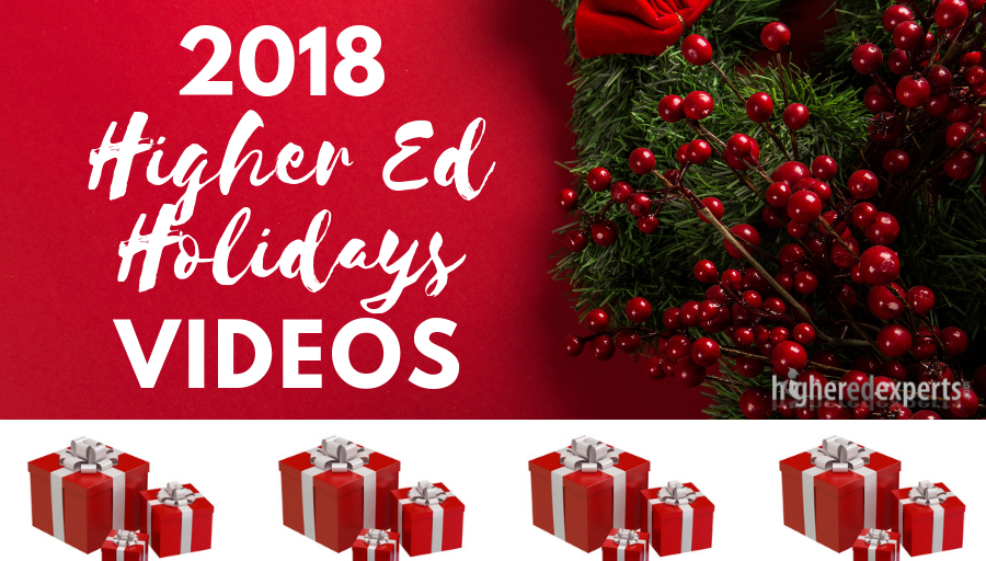 2018 #HigherEd Holidays Video Selection by Karine Joly