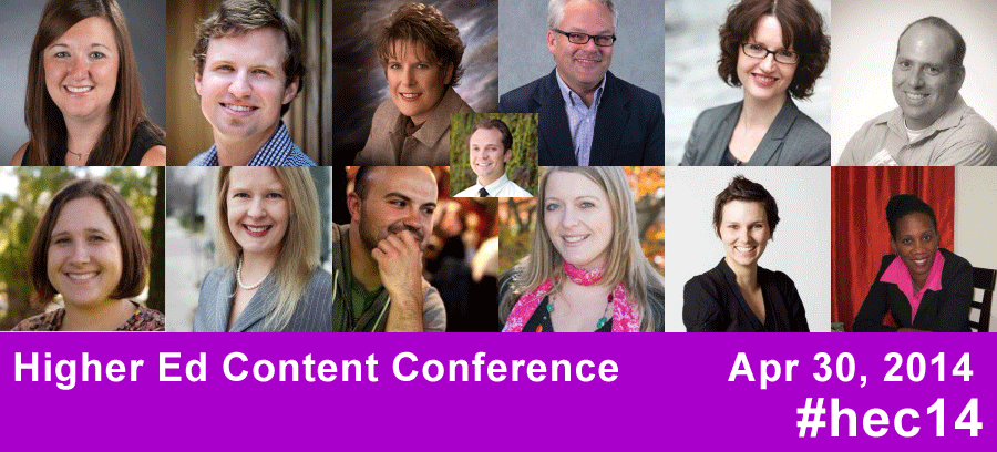Higher Ed Content Conference Line-Up
