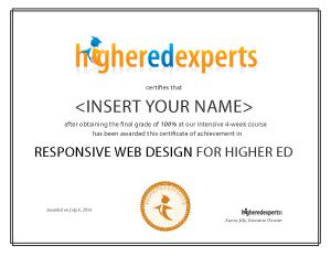 Responsive Web Design for Higher Education