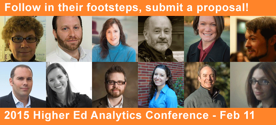 Call for proposals : 2015 Higher Ed Analytics Conference