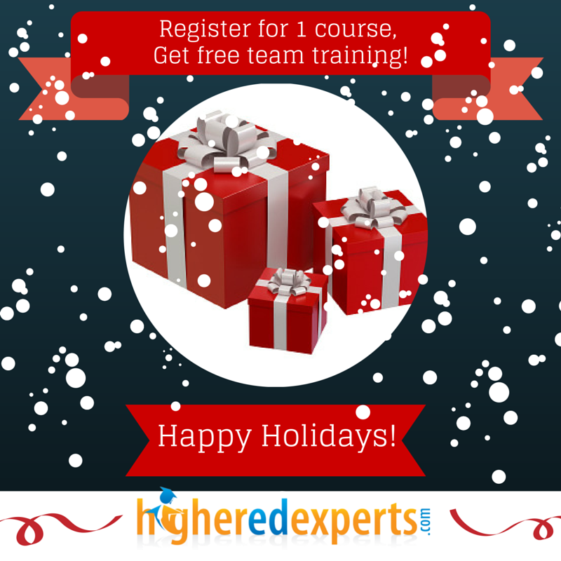 Special Holidays Offer from Higher Ed Experts