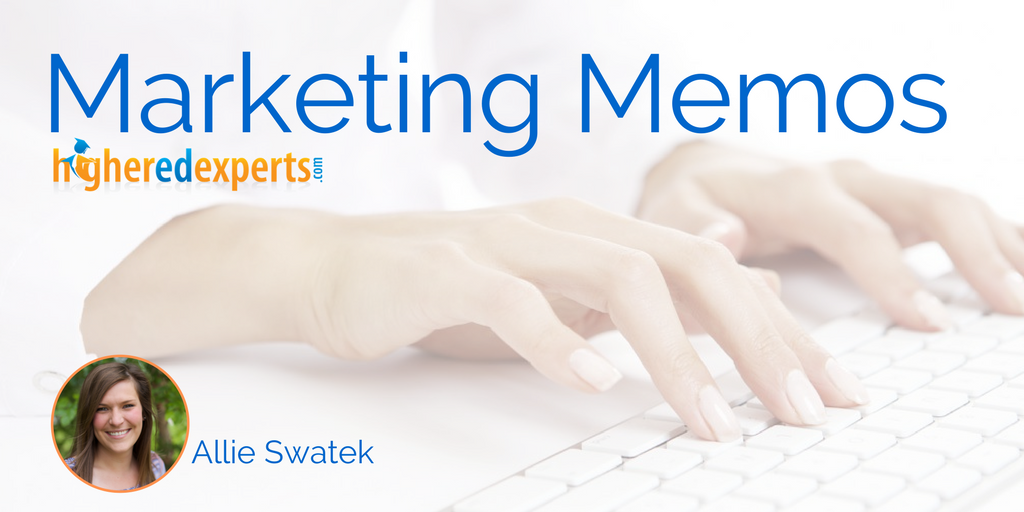 #HigherEd Marketing Memos: Creating a strategic plan for your school's social media by Allie Swatek #hesm