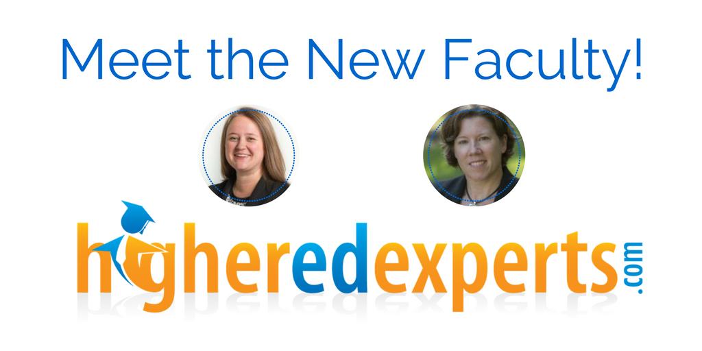 2 new instructors for @HigherEdExperts' certificate program on social media measurement for #highered