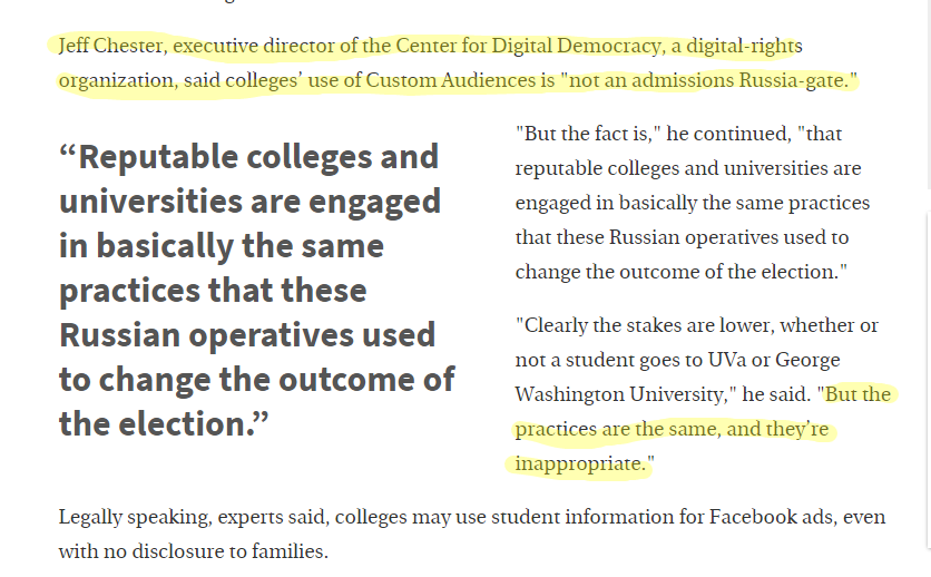 Excerpt from the Chronicle of Higher Education.