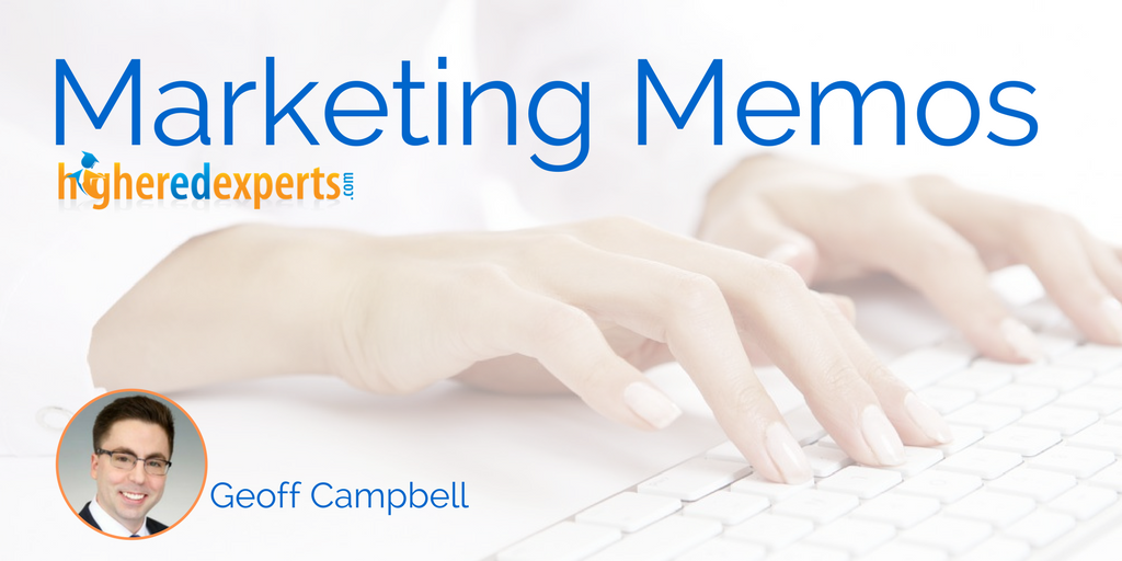 #HigherEd Marketing Memos: 4 tips to market your way to your 1st (or next) higher ed marketing job