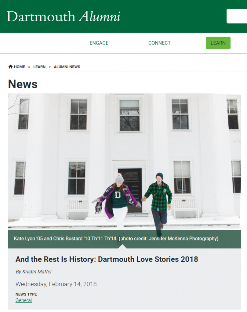 And the rest is history - Dartmouth Alumni Story