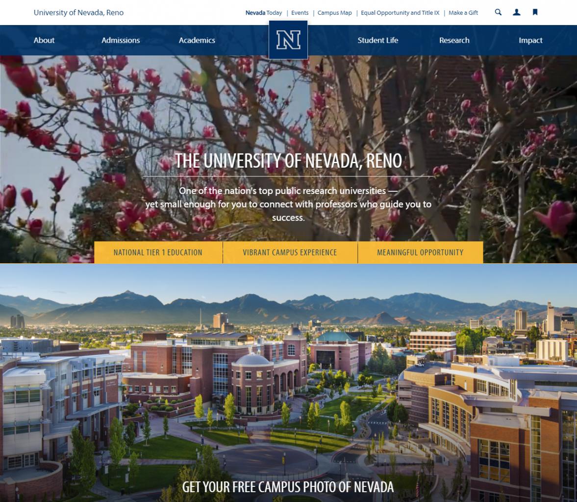 Unr Campus Map Pdf.20 Favorite Higher Ed Websites Selected By Peers Higher Ed Experts