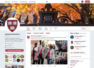 Harvard University Twitter